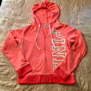 🛍SALE🛍 NWT VS PINK Coral Hoodie Size Small